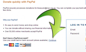 Paying by PayPal