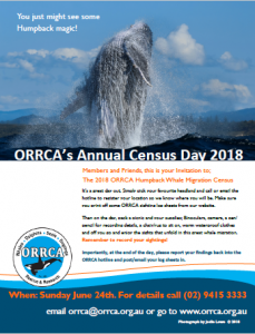 ORRCA's Census Day
